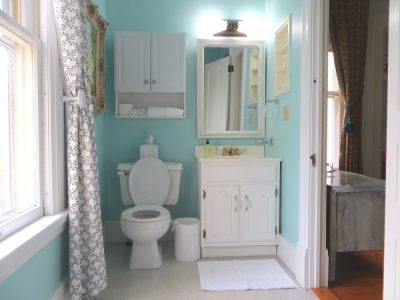 Room 4 Bathroom in soothing shade of blue