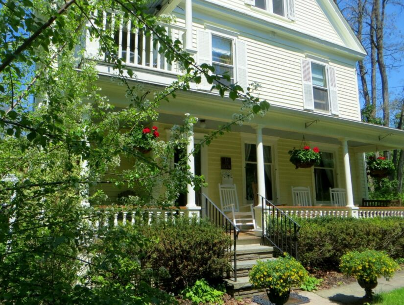 Close up of front exterior of Cooperstown B&B
